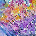 Watercolor - Abstract Flower Garden by Cascade Colors