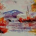 Watercolor Anseremme by Pol Ledent