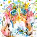 Watercolor Basset Hound by Fabrizio Cassetta