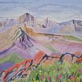 Watercolor - Blanca And Ellingwood Landscape by Cascade Colors