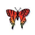 Watercolor Butterfly Red Yellow Green by Irina Sztukowski