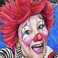 Watercolor Clown #24 Kelly Lynn Diehl by Patty Vicknair
