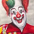 Watercolor Clown #25 Chuck Burnes by Patty Vicknair