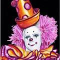 Watercolor Clown #26 Victor Ruiz by Patty Vicknair