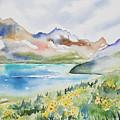 Watercolor - Colorado Alpine Landscape by Cascade Colors
