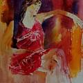 Watercolor Eglantine 1 by Pol Ledent