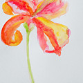 Watercolor Flower Oriental Lily by Patricia Awapara