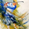 Watercolor  Golf Player by Pol Ledent