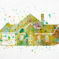 Watercolor House  by Oiyee At Oystudio