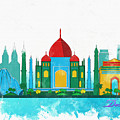 Watercolor Illustration Of Delhi by Don Kuing
