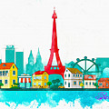 Watercolor Illustration Of Paris by Don Kuing