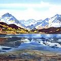 Watercolor Lake Reflection by Ugljesa Janjic