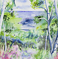 Watercolor - Lake Superior Impression by Cascade Colors