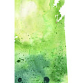 Watercolor Map Of Saskatchewan, Canada In Green by Andrea Hill