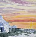 Watercolor - Mykonos Sunset by Cascade Colors