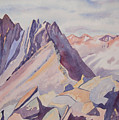 Watercolor - Near The Top Of Mount Sneffels by Cascade Colors
