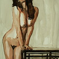 Watercolor Nude 1 by Stanimir Stoykov