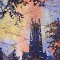 Watercolor Painting Of Duke Chapel On The Duke University Campus by Ryan Fox