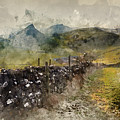 Watercolor Painting Of Stunning Landscape Of Chrome Hill And Parkhouse Hill Dragon's Back In Peak Di by Matthew Gibson