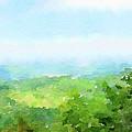 Watercolor Painting Of The English Countryside by Anita Van Den Broek