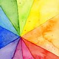 Watercolor Rainbow Beachball Pattern by Olga Shvartsur