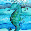 Watercolor Saehorse by Liliya Suleymanova