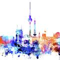 Watercolor Skyine Of Berlin, Germany by Dim Dom