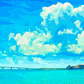 Watercolor Spring On Sarasota Bay by Susan Molnar