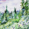 Watercolor - Summer In The Rockies by Cascade Colors