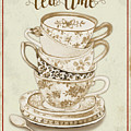 Watercolor Teacups-e by Jean Plout
