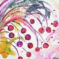 Watercolor - Winter Berry Abstract by Cascade Colors