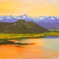 Watercolored Sunset by Rick Wicker