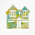 Watercolour House by Oiyee At Oystudio