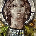 Watercolour Painting Of Stained Glass Religious Window In Church by Matthew Gibson