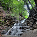 Waterfall And Natural Gas by Ted Kinsman
