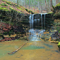 Waterfall At Don Robinson State Park 1 by Greg Matchick