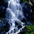 Waterfall Flowing And Ebbing by R Muirhead Art