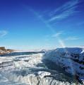 Waterfall Gullfoss In Winter Iceland Europe by Matthias Hauser