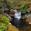 Waterfall In Autumn by Stephen  Vecchiotti