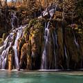 Waterfall In The Park by Jaroslaw Blaminsky