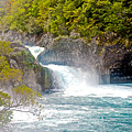Waterfall In Vicente Perez Rosales National Park Near Puerto Montt-chile  by Ruth Hager