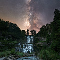 Waterfall Milky Way  by Michael Ver Sprill