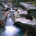Waterfall On The Ammonoosuc River  by George Oze