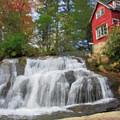 Waterfall Painting by Jill Lang