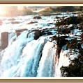 Waterfall Scene For Mia Parker - Sutcliffe L A S With Decorative Ornate Printed Frame.  by Gert J Rheeders