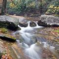 Waterfalls At Roaring River Stone Mountain by John Harmon