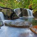 Waterfalls At Sweet Creek Falls Trail by David Gn