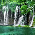 Waterfalls Panorama - Plitvice Lakes National Park Croatia by Global Light Photography - Nicole Leffer