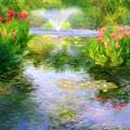 Watergarden In Monet Style by Crystal Garner