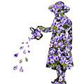 Watering Flowers by Amanda Elwell